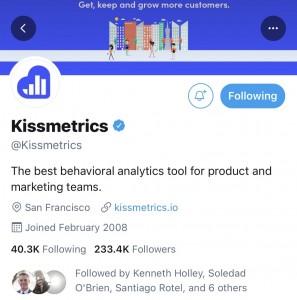 kissmetrics twitter